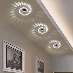 Luz de techo llevada moderna 3 W RGB pared para galería de arte decoración lámpara de balcón frontal porche pasillos Luz accesorio