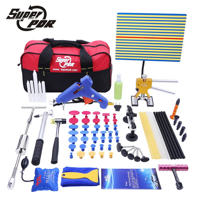 PDR Car Dent Repair Tool set Slide Hammer Glue Gun Dent Puller 68pcs auto body repair tools Dent removal tool kit