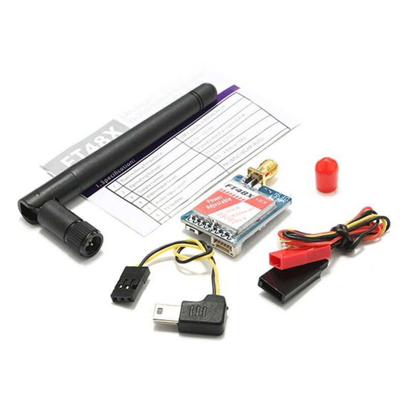 New Arrival FT48X 5.8G 48CH 0.25/25/200/600mW Adjustable Video Transmitter FPV Racer VTX For Raceband