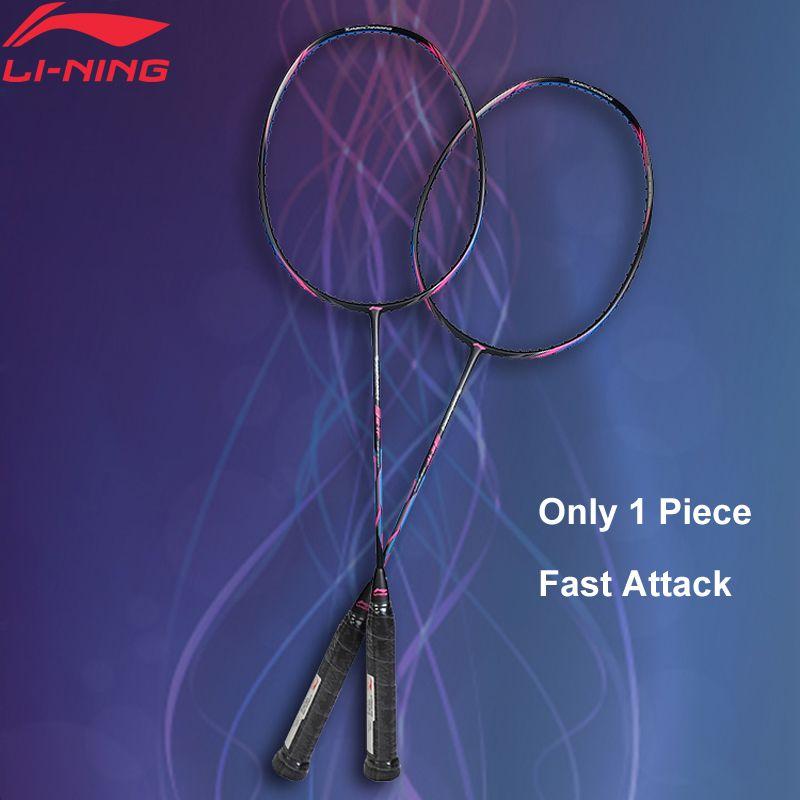 Li-Ning Turbo Lade 20 Professionelle Badminton Schläger Einzigen Schläger Futter Ausrüstung Sport Schläger AYPM324 (AYPM436) ZYF246