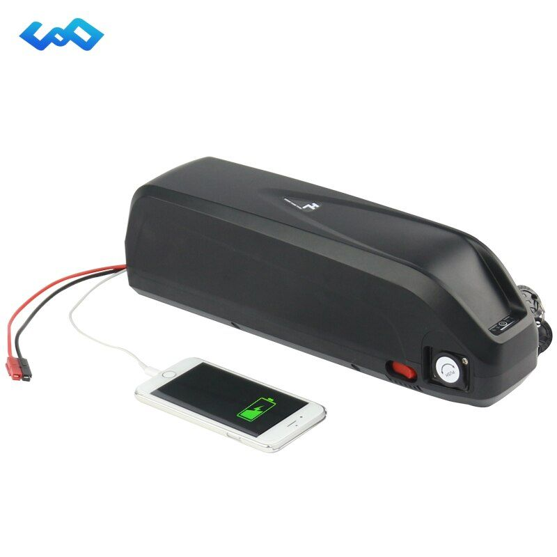 Free Tax Sanyo GA cell 52V 17.5Ah New Hailong Battery 14S5P 1000W High Power Down Tube eBike Lithium ion Battery+Charger