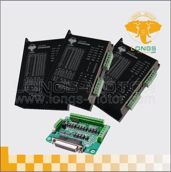 3Axis Stepper motor driver PEAK 7.8A ,256micsteps DM860A controller DB25 CNC--longs motor