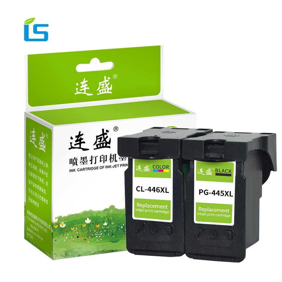 2Pcs/set PG 445 PG445 CL446 Refilled Ink Cartridge Replacement PG-445 CL-446 for Canon PIXMA MX494 MG2440 MG2540 MG2940 IP2840