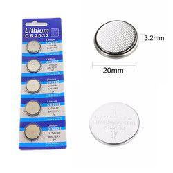 5 stücke karte 2032 CR2032 3 V 220 mAh lithium-Taste Münze Batterie in Groß für uhren, spielzeug, taschenlampen usw.