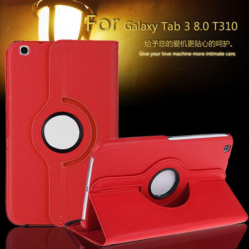 Pour le Cas Samsung Galaxy Tab 3 8.0 T311, T310, T315 Smart Stand Tablet PU Housse En Cuir 360 rotation + Film