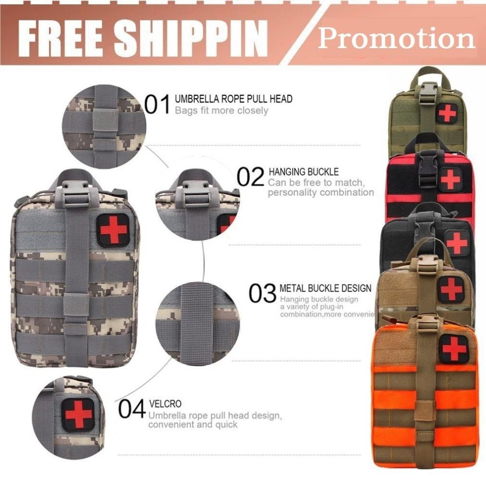 2019 NEW Outdoor Survival Kits Tactical Medical Bag Traval backpack For Travel  Camping Climbing Emergency Case First Aid Kit