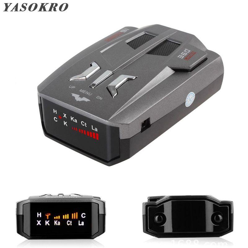 Détecteur de Signal Anti-Radar de voiture automatique (anglais/russe) pour véhicule V9 alerte vocale de vitesse avertissement détecteur d'affichage de LED 16 bandes