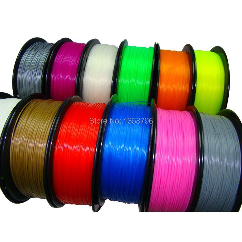 Bleu couleur 3d imprimante filament PLA/ABS 1.75mm/3mm 1 kg Consommables Matériel MakerBot/RepRap/UP/Mendel vente Chaude