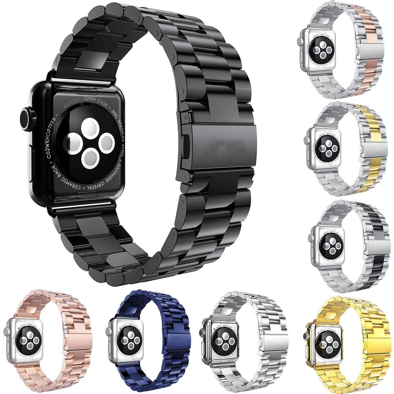 Bracelet en acier inoxydable pour Apple Bracelet de montre 42mm 38mm 44mm 40mm lien Bracelet Bracelet Bracelet pour iWatch 4 3 2 1 Bracelet en métal