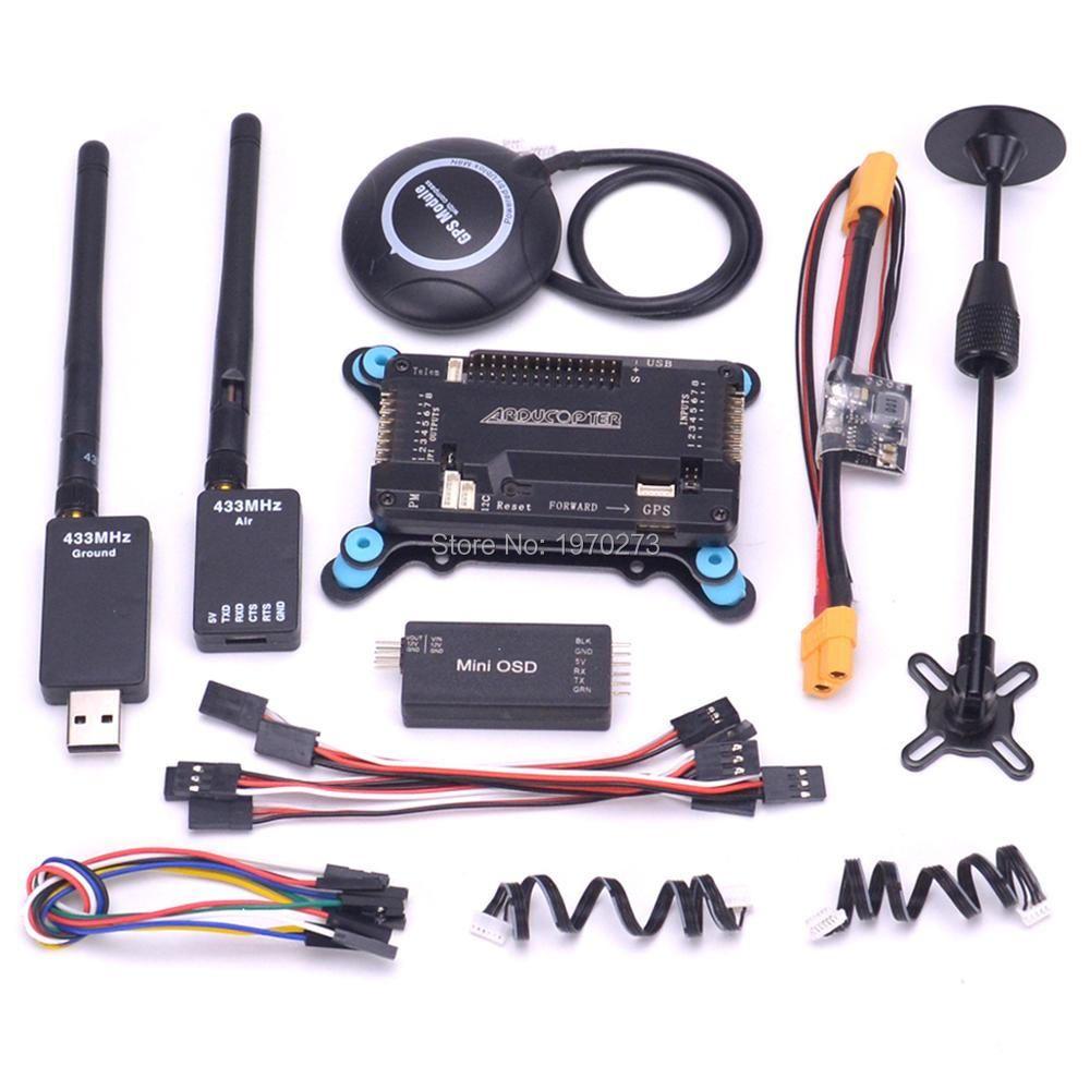 APM2.8 APM 2,8 Flight Controller Board w/stoßdämpfer M8N GPS mit Kompass Power module Mini OSD Modul 433 /915 telemetrie