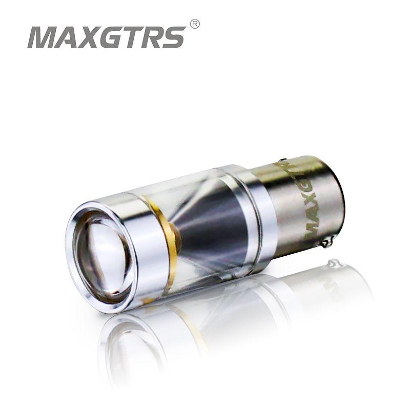 2x S25 1156 BA15S P21w 30 W CREE Puce LED Degrés briller Conduite Lampe Ampoule De Frein De Voiture Automatique Back-Up Sourcing Lumière blanc/Jaune