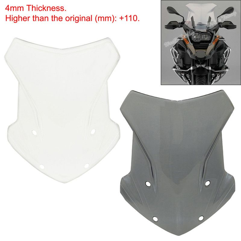 waase R1200 GS ADV Motorcycle Windscreen Windshield Shield Screen For BMW R1200GS LC / Adventure 2014 2015 2016 2017