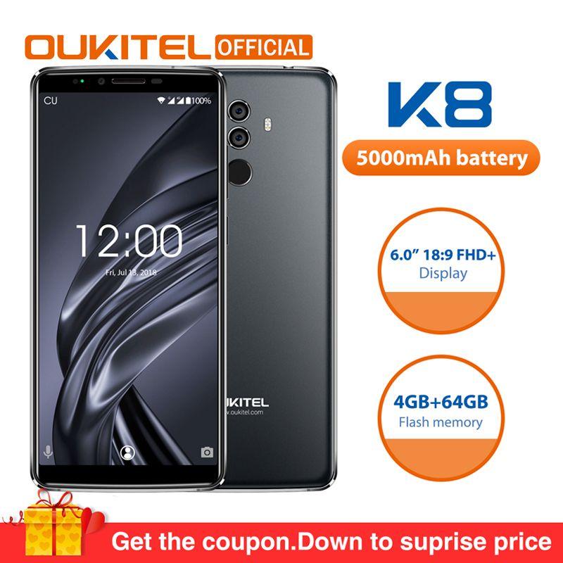 OUKITEL K8 Android 8.0 6.0