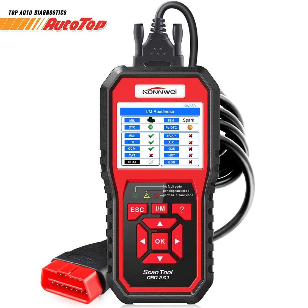KONNWEI KW850 OBD2 Automotive Scanner OBD 2 Auto Diagnostic Scanner Engine Fault Code Reader ODB2 Diagnostic Scan Tool for Cars