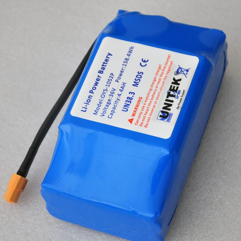 li-ion 36V 4400mah rechargeable battery pack 4.4AH lithium ion cell for electric self balance scooter vehicle monocycle unicycle