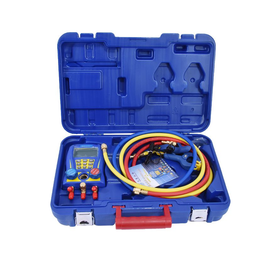 WK-6889 Electronic Fluoride Meter Digital Display Refrigeration Manifolds Gauge Vacuum Pressure Manomete Compressor Tool Gauge