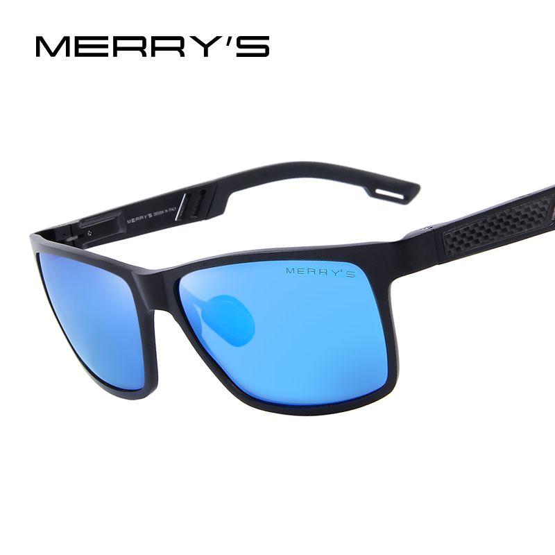 Merry's Для мужчин поляризационные Защита от солнца очки Алюминий магния Защита от солнца Очки вождения Очки прямоугольник оттенков s'8571