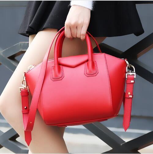 Vintage Genuine Leather Luxury Handbag Women Shoulder Bags Brand Designer Retro Cowhide Female Trapeze Bag Bolsas Femininas