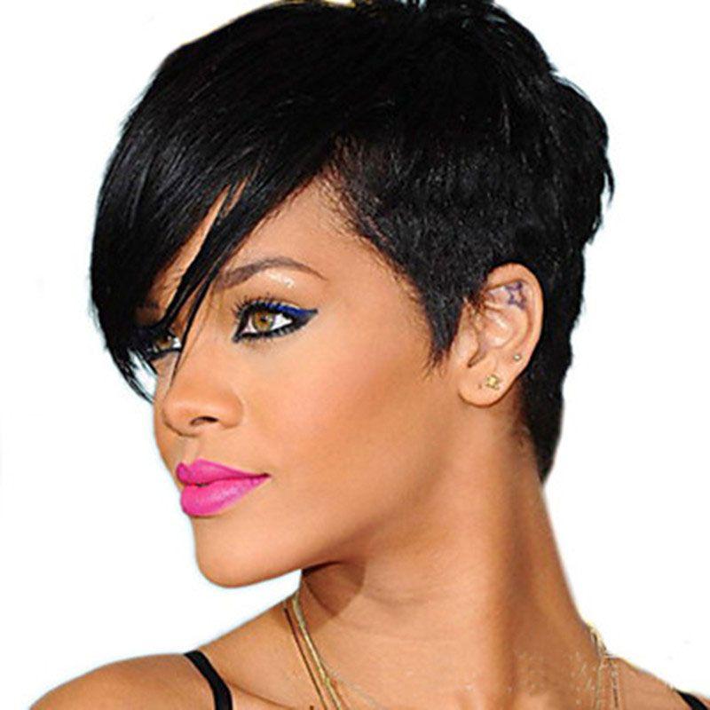 HAIRJOY femme perruques synthétiques naturel noir cheveux perruque 6 couleurs disponibles livraison gratuite