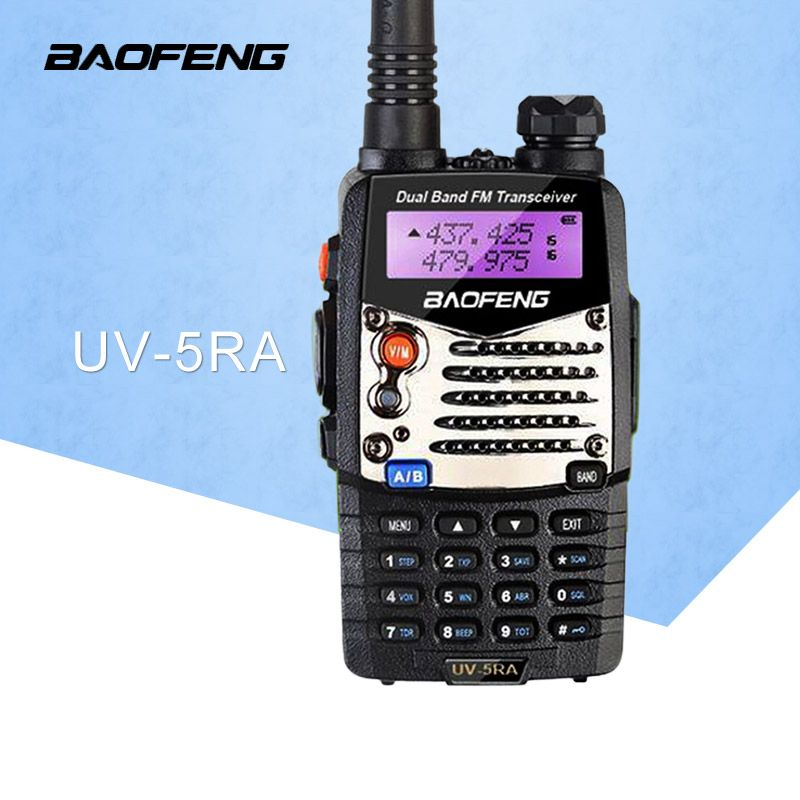 (1 pcs) Baofeng UV5RA Ham Two Way Radio Dual-Band 136-174/400-520 MHz baofeng uv-5ra talkie walkie radio Émetteur-Récepteur Noir