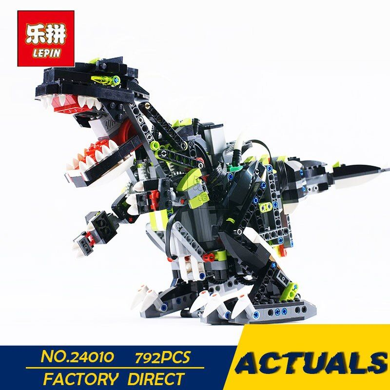 LEPIN 24010 792pcs Science technology building blocks super 3 in 1 dinosaur remote control sound function enlighten toys for kid