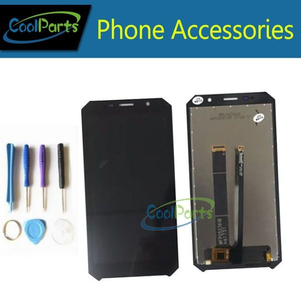 1pc/Lot High Quality For Doogee S60 LCD Display Screen +Touch Screen Digitizer Assembly Replacement Part With Tools Black Color