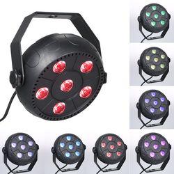 مصغرة 13 واط Dj الليزر ديسكو الكرة المرحلة ضوء 6 Led Rgb غسل تأثير المحمولة كشافات مسرح السيارات الصوت تفعيل داخلي ديسكو مصباح