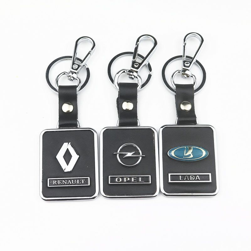 3D Metal Car Key CASE for Brand New Auto Supplies Renault Opel Lada Emblem  Reynolds Car Accessories Key Chain
