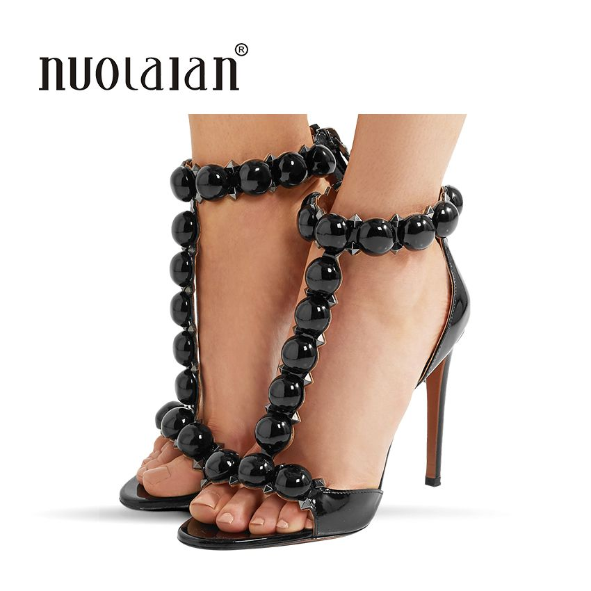 2018 Summer Women Sandals Sexy High Heels sandals T-Strap Women's Shoes Peep Toe High Heels Party Wedding Shoes Woman