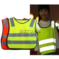 Sécurité Salut Vis Enfants Gilet Gilet Gris Bandes Réfléchissantes Vêtements Trafic