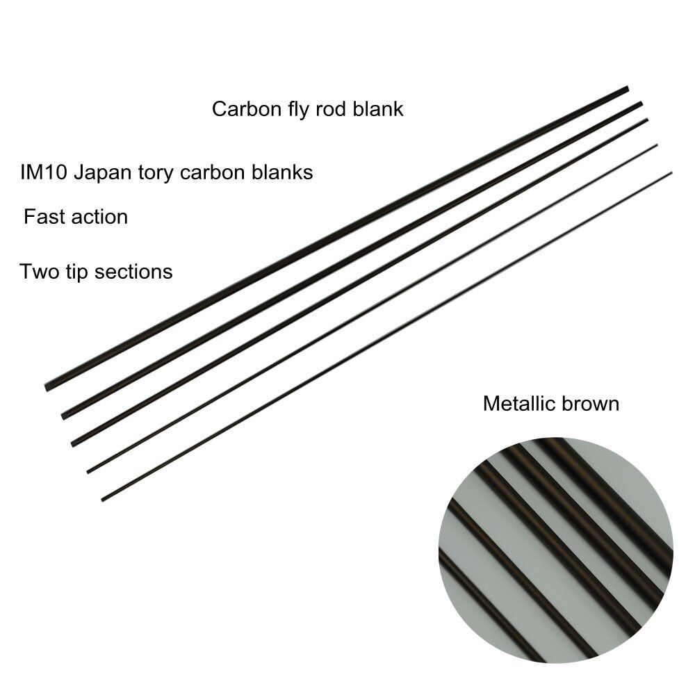 Aventik 10'0'' LW3/4 IM10 Nymph Casting Fly Fishing Rod Blanks Fast Action Fly Rod Blank With Extra Spare Tips Fast Action Rods