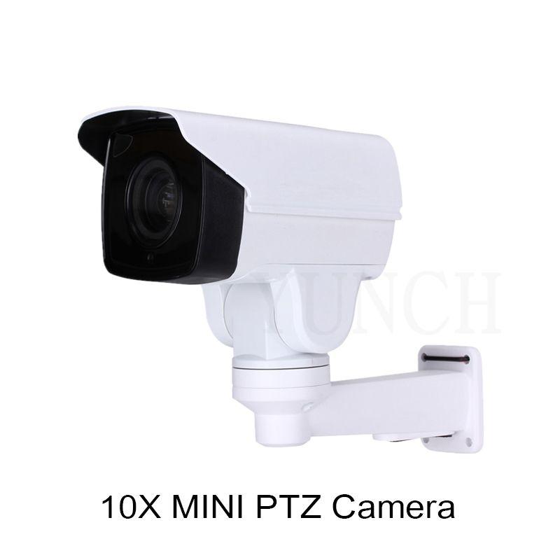 2017 YUNCH 1080 P 10X 4X zoom Impermeable cámara cctv con POE Bullet IP Cámara PTZ Onvif 1080 P MINI Cámara de Vigilancia IP PTZ