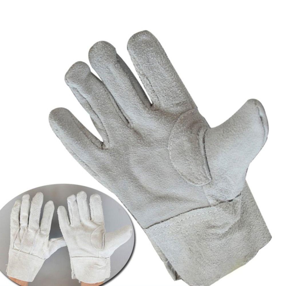 Feuerfeste Langlebig Rindsleder Schweißer Handschuhe Komfortable Anti-Wärme Arbeit Sicherheit Handschuhe Für Schweißen Metall Hand Werkzeuge
