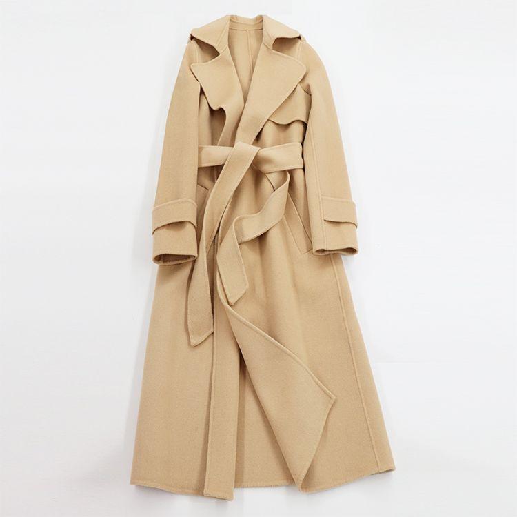 Double faced cashmere overcoat female medium-long 2017 woolen winter outerwear Wool & Blends