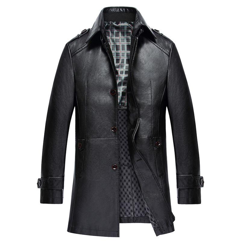 2017 Christmas Men Genuine Leather Jackets Stand Collar Slim Real Sheepskin Leather Coat Men Winter Jacket Mens leather jackets