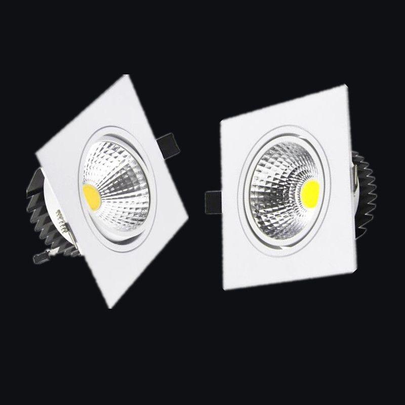 Livraison gratuite 1 pièces LED COB Downlight Dimmable ac110-240V 7 W 9 W 12 W encastré LED plafonnier Spot ampoules éclairage intérieur