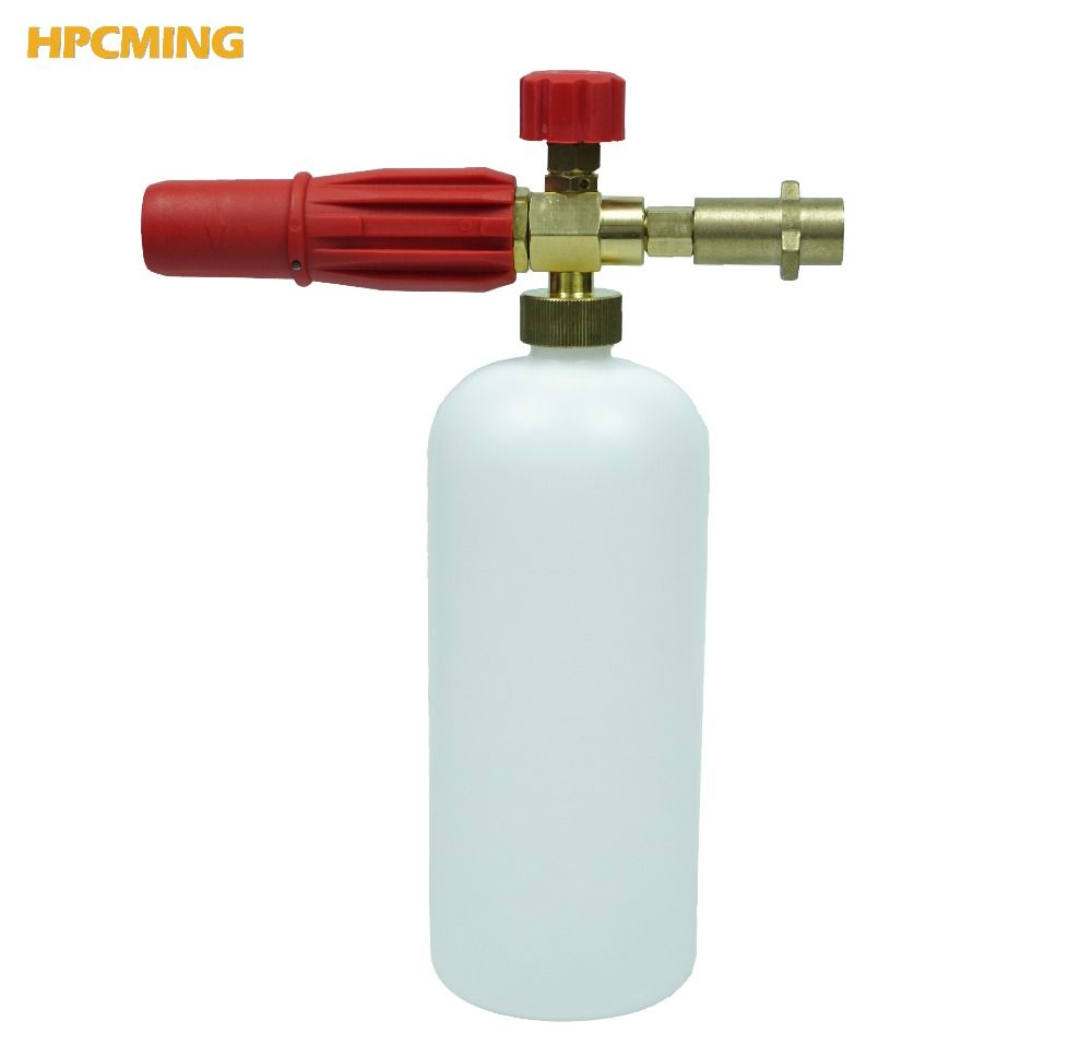 2018 For Karcher K series adapter New Brass Red Snow Foam Lance High Pressure Cleaner Car Washer High Quality (CW065)