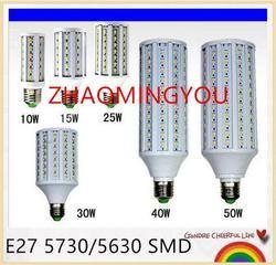 7 W 12 W 15 W 25 W 30 W 40 W 50 W 60 W 80 W 100 W Lâmpada CONDUZIDA E27 5730 (5630) SMD 110 V/220 V Milho Lâmpadas Spotlight Lampada LEVOU Lanterna de Luz