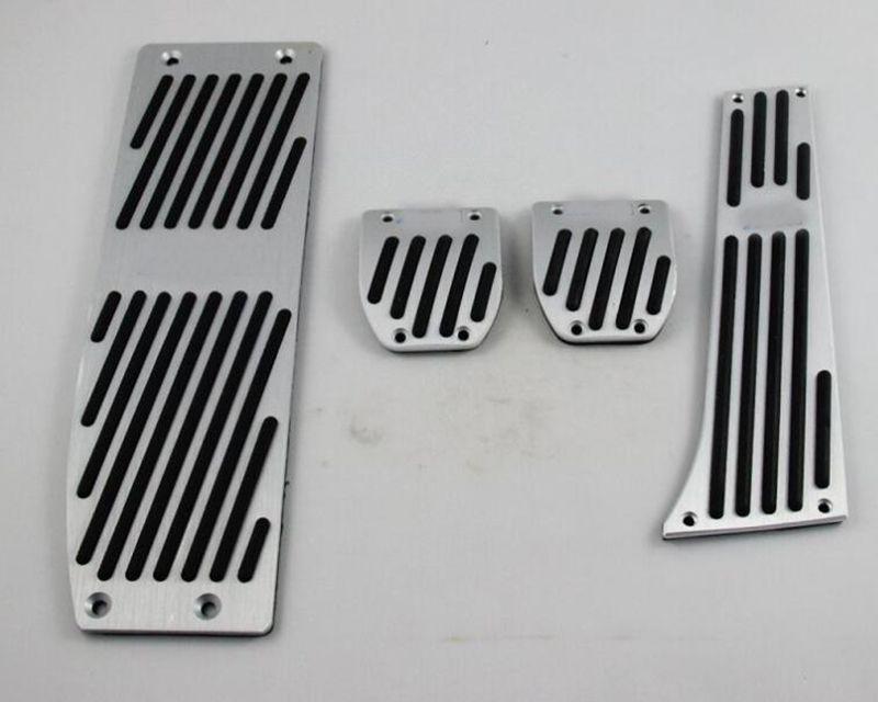 Aluminum Foot Rest Pedals Set Fit for BMW E30 E36 E46 E87 E90 E91 E92 E93 M3 MT Silver Color