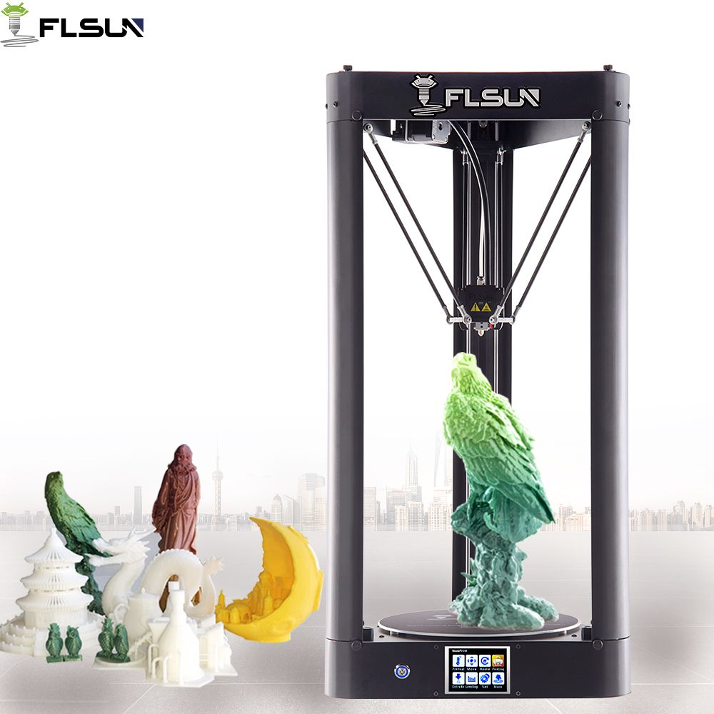 Flsun-QQ High Speed 3D Printer 95% Pre-assembly Large Printing Area 260*260*370mm Auto-leveling Touch Screen Wifi Power Resume
