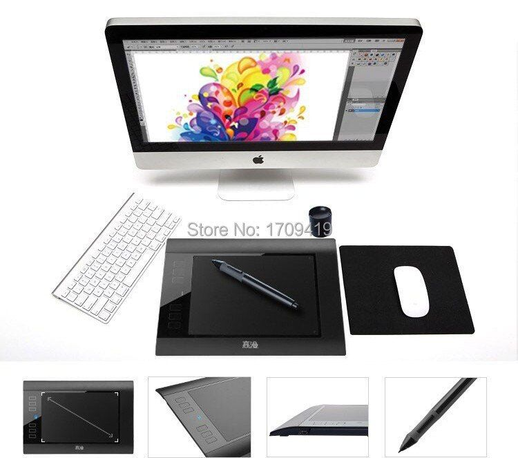 Promotion New GAOMON 860T Digital Tablets Graphic Pen Tablet USB Drawing Tablet Support TF Card Reader With Digital Pen Black