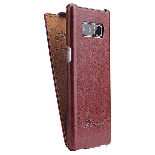 Note8 Für Samsung Galaxy Note 8 Fall Flip Up Down Stil fest typ Leder Flip ultradünne Abdeckung Schützen Cases schwarz SM N9500