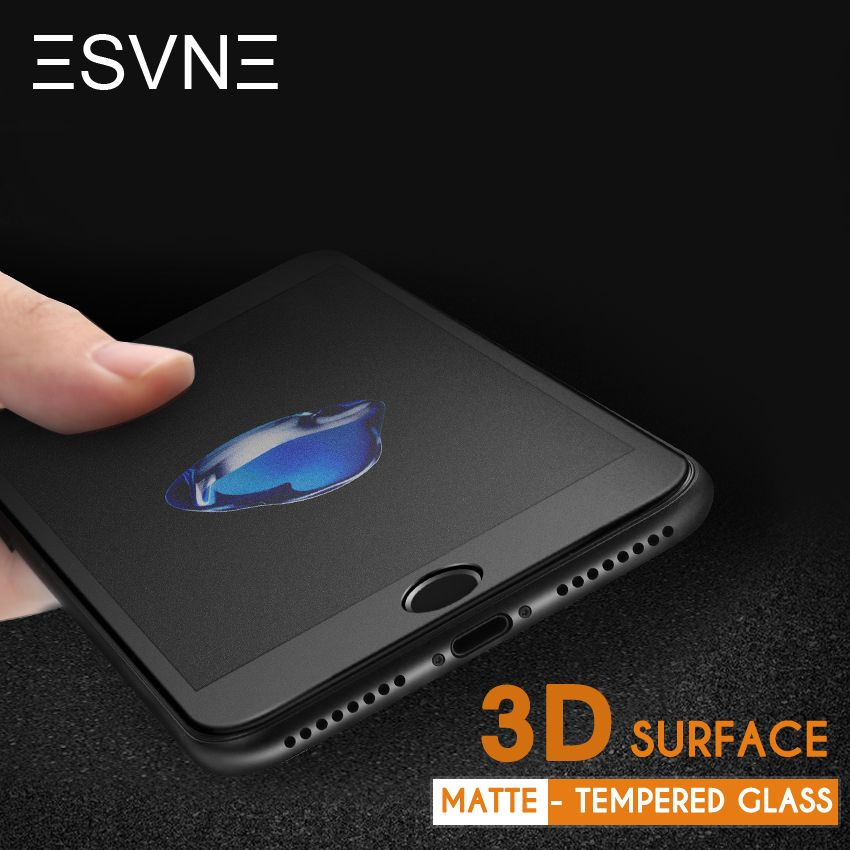 ESVNE 3D Curved Matte Tempered Glass for iphone 6 Glass Film 9H Hardness 6s plus Anti-Fingerprint iPhone 7 Screen Protector