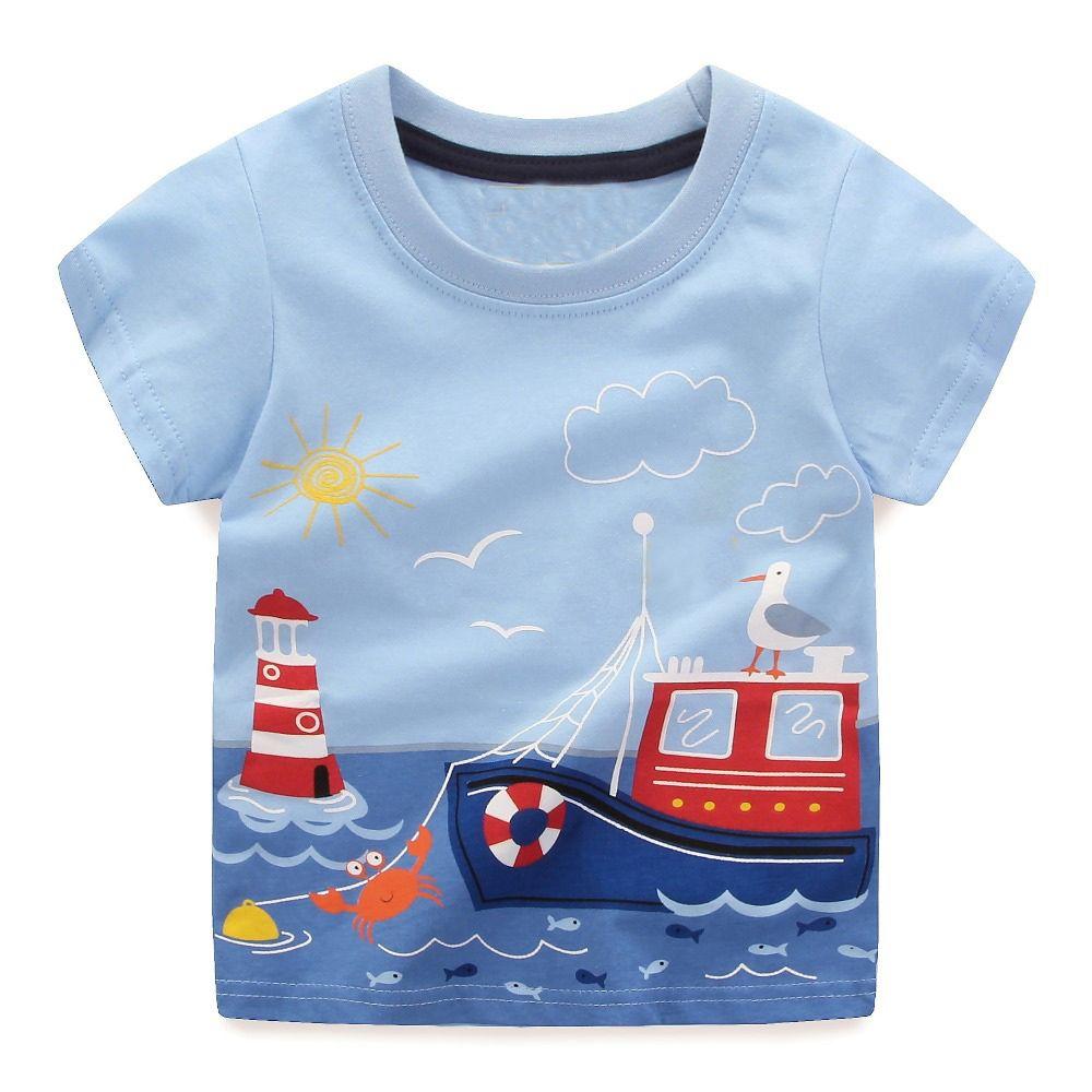 Garçons Tops Été 2018 Marque Enfants T chemises Garçons Vêtements Enfants T-shirt Fille 100% Coton Caractères Imprimer Bébé Garçon vêtements
