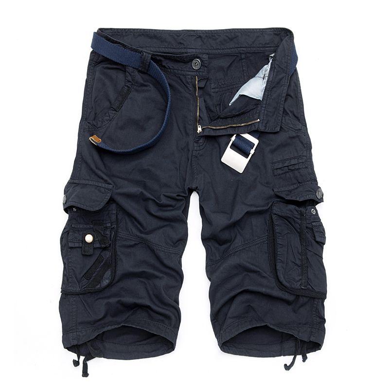 Camo Military Shorts Bermuda 2017 Summer Camouflage Cargo Shorts Men Cotton Loose <font><b>Tactical</b></font> Short Pants No Belt