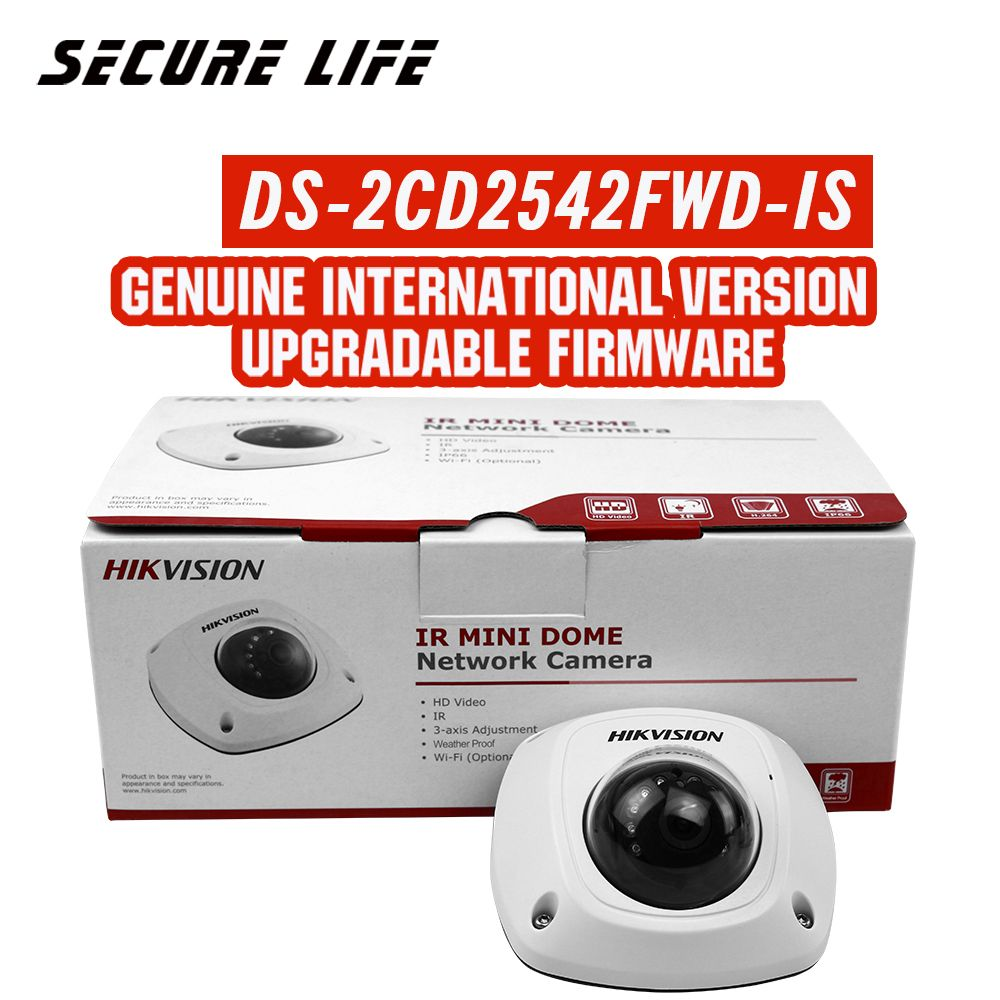 In lager HIKVISION Englisch Version DS-2CD2542FWD-IS 4MP Mini Dome Cctv-kamera POE WDR H.264 +, nicht wifi, p2P mini ip kamera