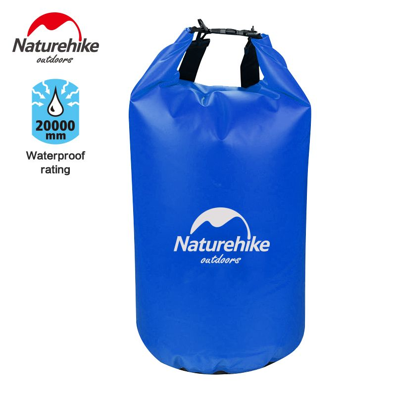 Naturehike 50L Waterproof Rafting Bag Dry Ultralight3 Colors Outdoor Swimming Nylon Kayaking Storage Drifting Bag Backpack Bag