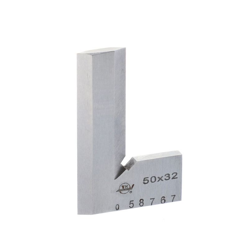 90 Degree Angle Ruler 50*32mm Stainless Steel grade 0 bladed L Angle Try Square Measure Ruler Square