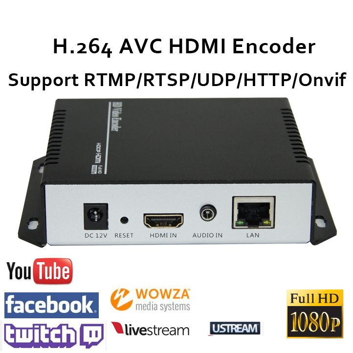 U8Vision H.264 HDMI Video Encoder support RTSP/RTMP/UDP/RTP/HTTP for live streaming Broadcast