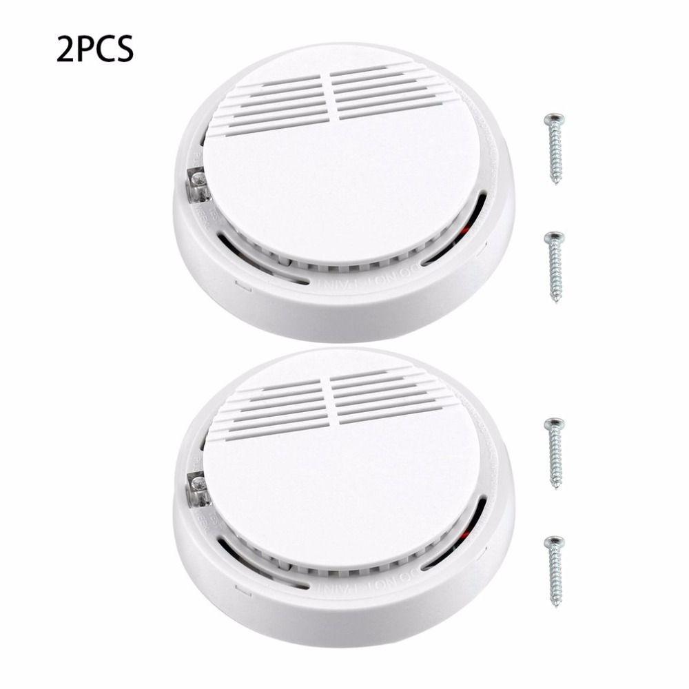 2Pcs 5Pcs 10Pcs Sensor Sensitive Photoelectric Home Independent alarm Smoke Detector Fire Alarm alone Sensor For Family Guard